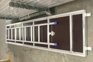 Aluminum plywood platform 610mm with ladder