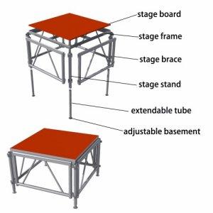 Aluminum stage