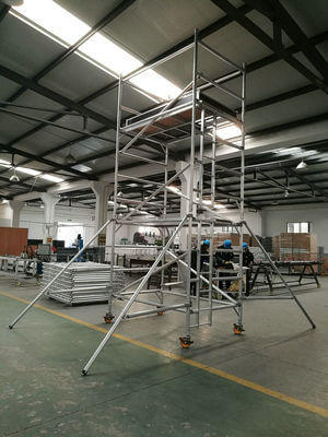 aluminum tower with ladder