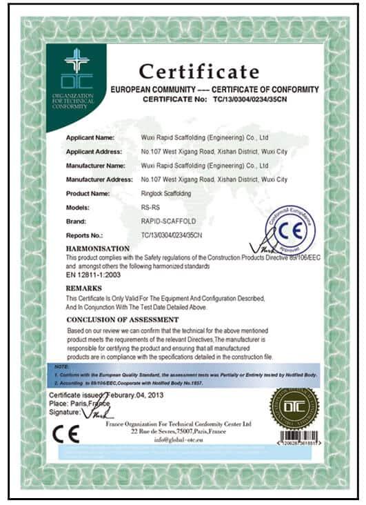 certificate european 2