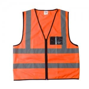 Orange Safety Vest with Reflective Stripe