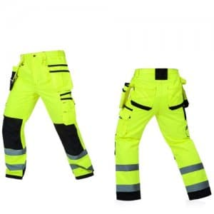 Reflective High Visibility Multi-pockets Work Trousers