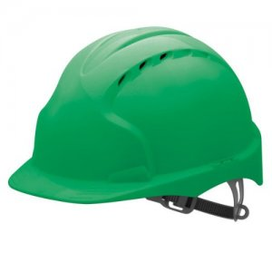 green safety helmet