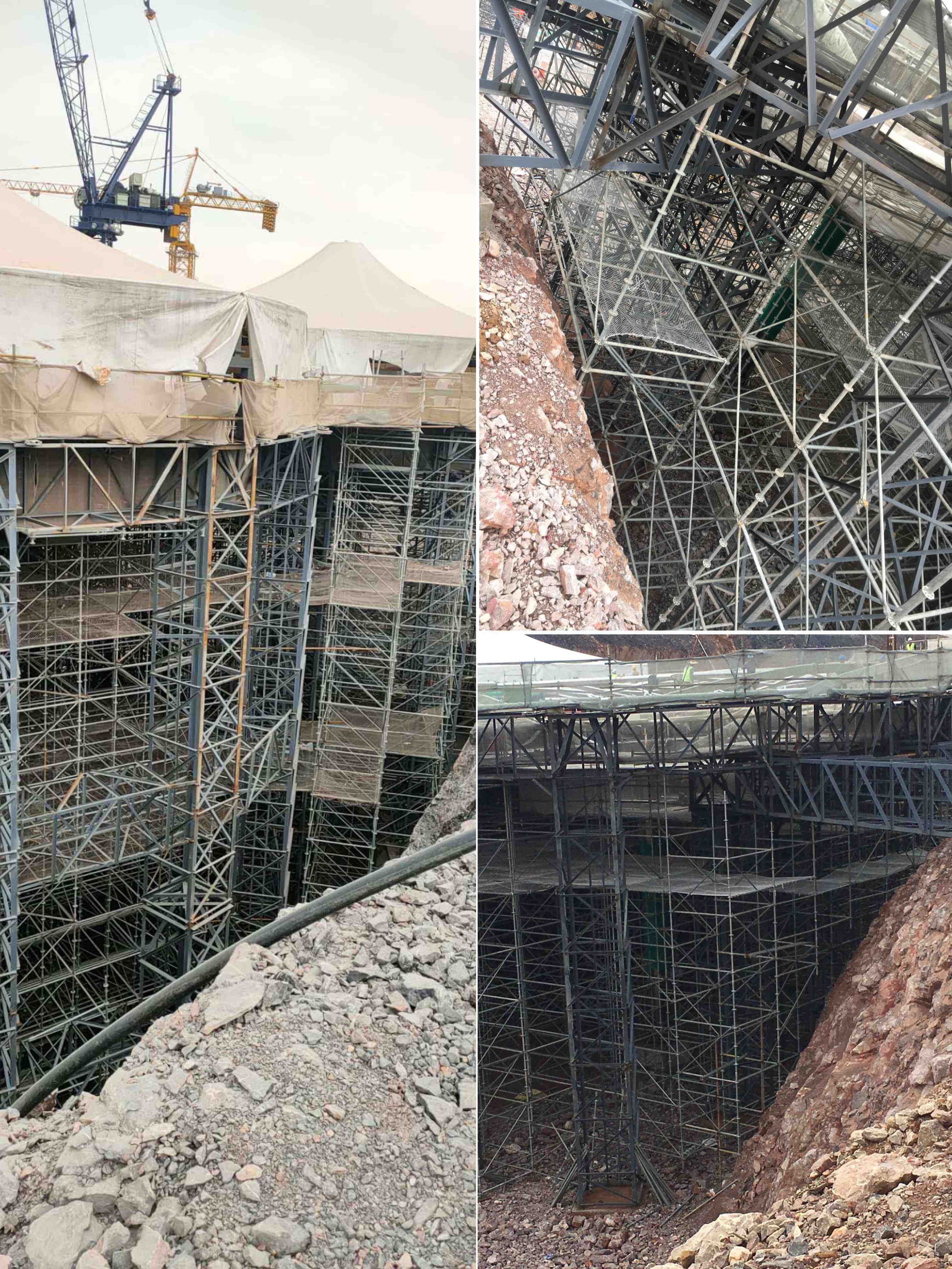 scaffolding under construction